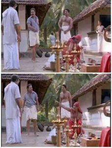Thenga Pottikkal Thala Pottitherikkal Manthravadam Scene Meme 4