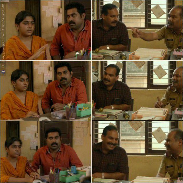 Suraj Venjaramoodu , Alencier Ley Lopez , Nimisha Sajayan In Thondimuthalum Driksakshiyum Plain Meme