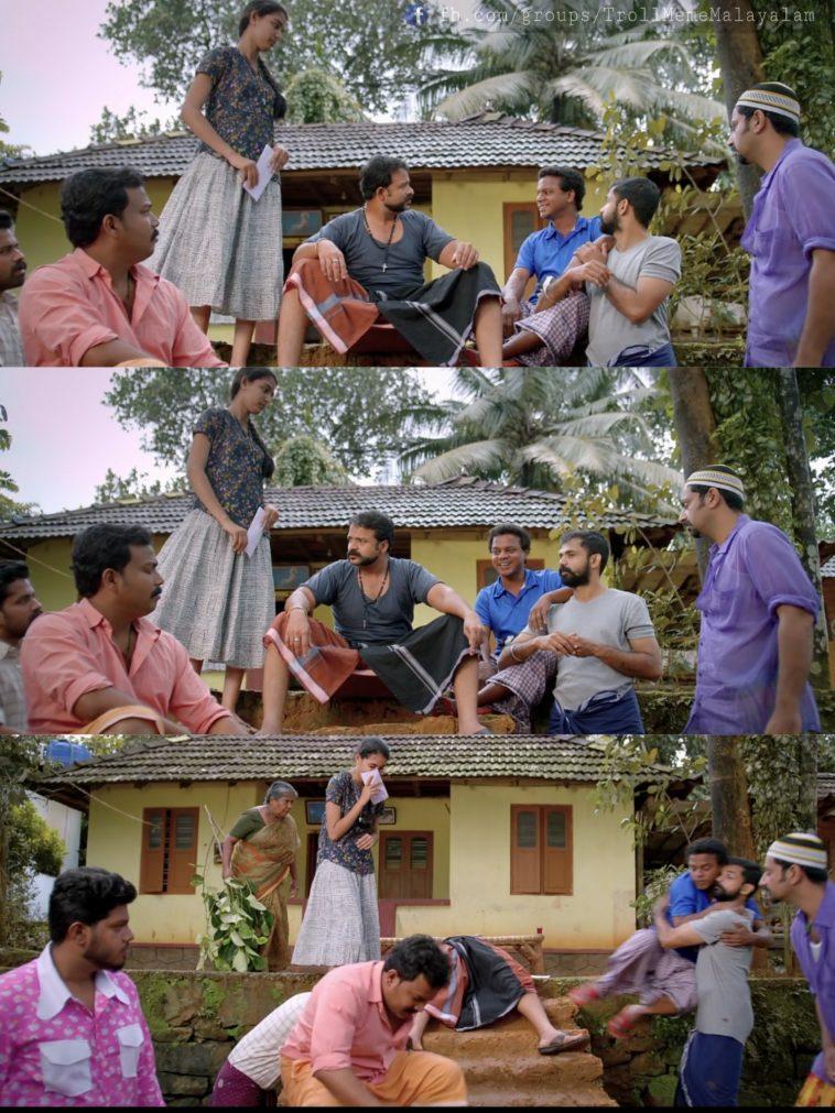 Japthiyano Appo Chenda Kottu Okke Undavumallo | Jayasurya , Shaji Pappan , Bhagath Manuel , Dharmajan Bolgatty , Saiju Kurup , Arakkal Abu | Aadu 2 Plain Meme