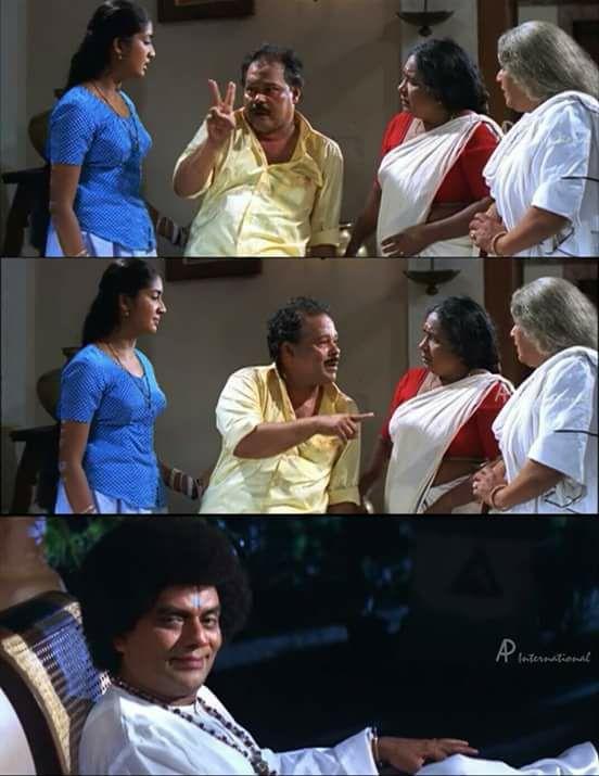 Double Aah Double Avidem undu Ividem Undu Meme Nandanam Malayalam Movie Plain Memes Download