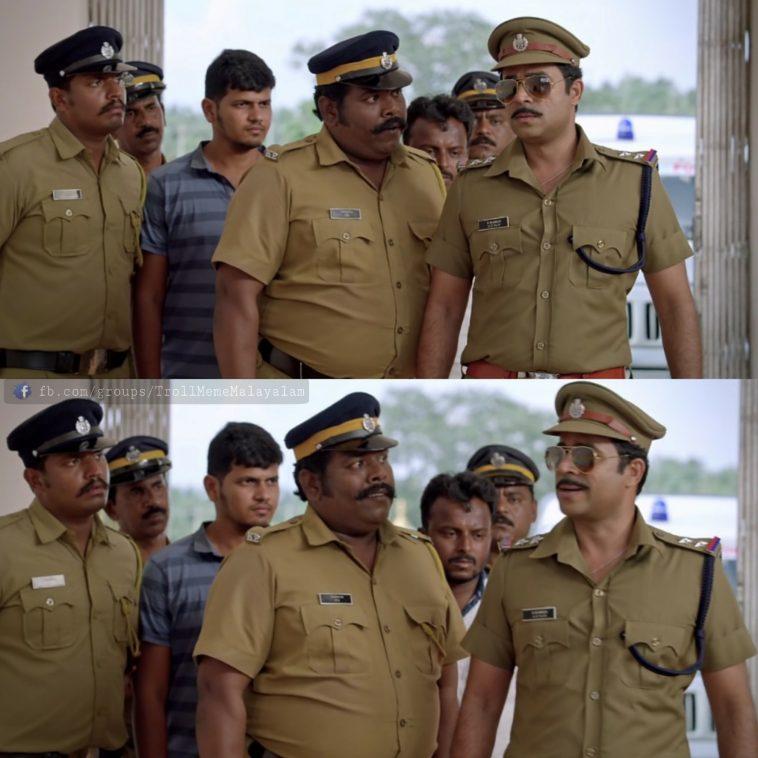 Athinu Sir Enthina Pedikunnathu Nammal Alle Police | Vijay Babu , Noby Marcose , Sarbath Shameer | Aadu 2 Plain Meme